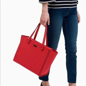 Kate Spade Red Tote bag Saffiano Leather